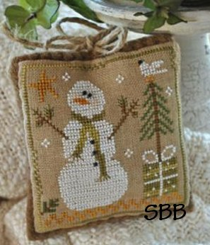 Little House Needleworks2010 Ornament #8 ~ Frosty Flakes