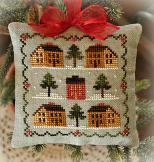 Little House Needleworks2012 Ornament #12 ~ Saltbox Village