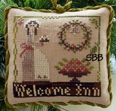 Little House Needleworks The Sampler Tree Ornament Series #9 Welcome Inn