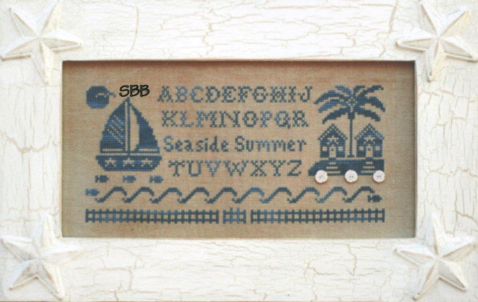 Little House Needleworks Seaside Summer Alphabet with Silk & Buttons