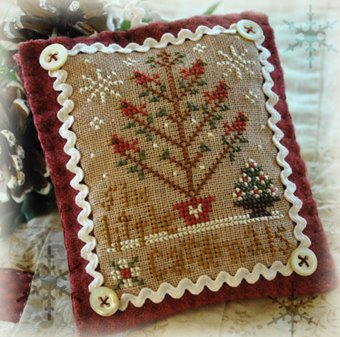 Little House Needleworks2012 Ornament #6 ~ Six Little Cardinals