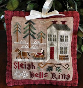Little House Needleworks2012 Ornament #4 ~ Sleigh Bells Ring