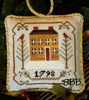 Little House Needleworks The Sampler Tree Ornament Series #1 Old Colonial