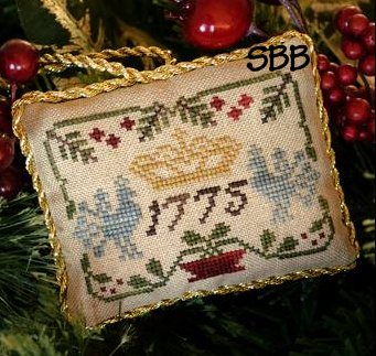 Little House Needleworks The Sampler Tree Ornament Series #3 Three Crowns