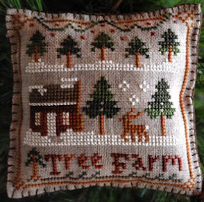 Little House Needleworks2012 Ornament #2 ~ Tree Farm