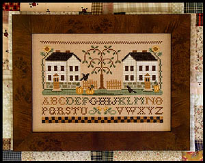 Little House Needleworks Two White Houses