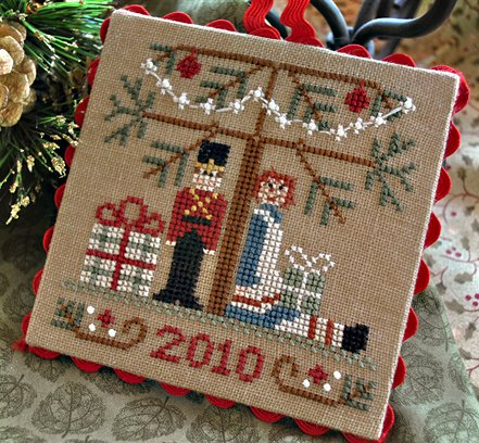 Little House Needleworks2010 Ornament #10 ~ Under the Tree