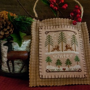 Little House Needleworks2011 Ornament #11 ~ Winter Forest
