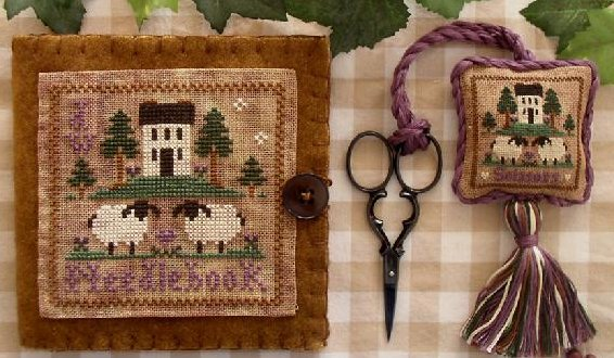 Little House Needleworks Wool Needlebook & Fob