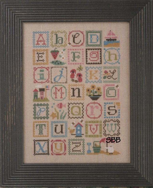 Lizzie*Kate Charts148 Summer Alphabet with Embellishments