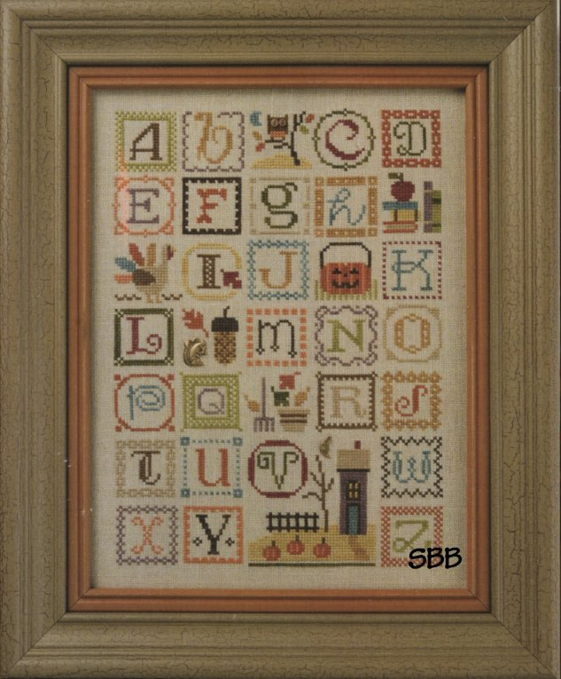 Lizzie*Kate Charts149 Autumn Alphabet with Embellishments