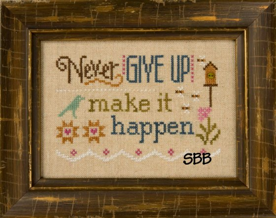 Lizzie*Kate Flip-It F152 3 Little Works ~ Never Give Up