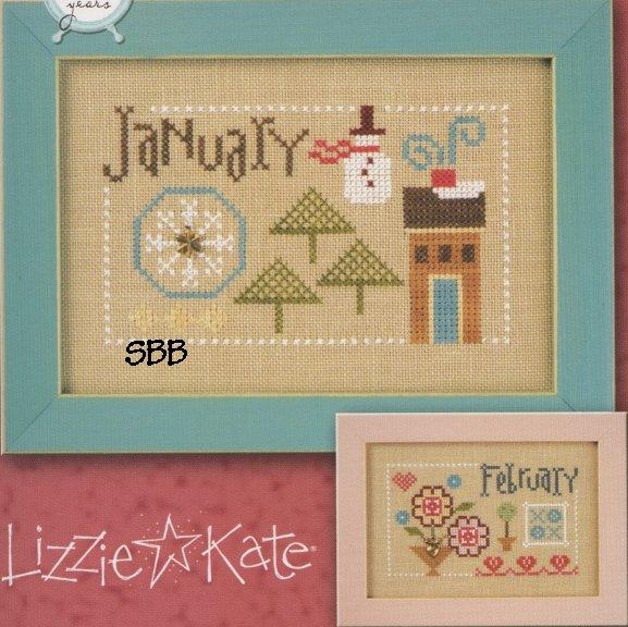 Lizzie*Kate Flip-It F158 Year Book Double Flip ~ January & February