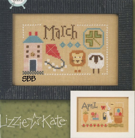 Lizzie*Kate F159 Year Book Double Flip ~ March & April