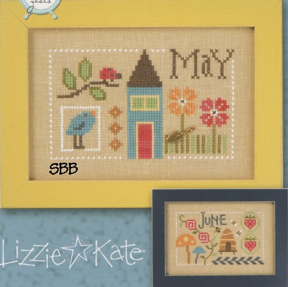 Lizzie*Kate F160 Year Book Double Flip ~ May & June