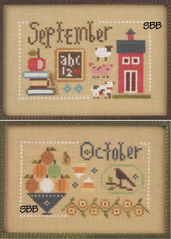 Lizzie*Kate F162 Year Book Double Flip ~ September & October