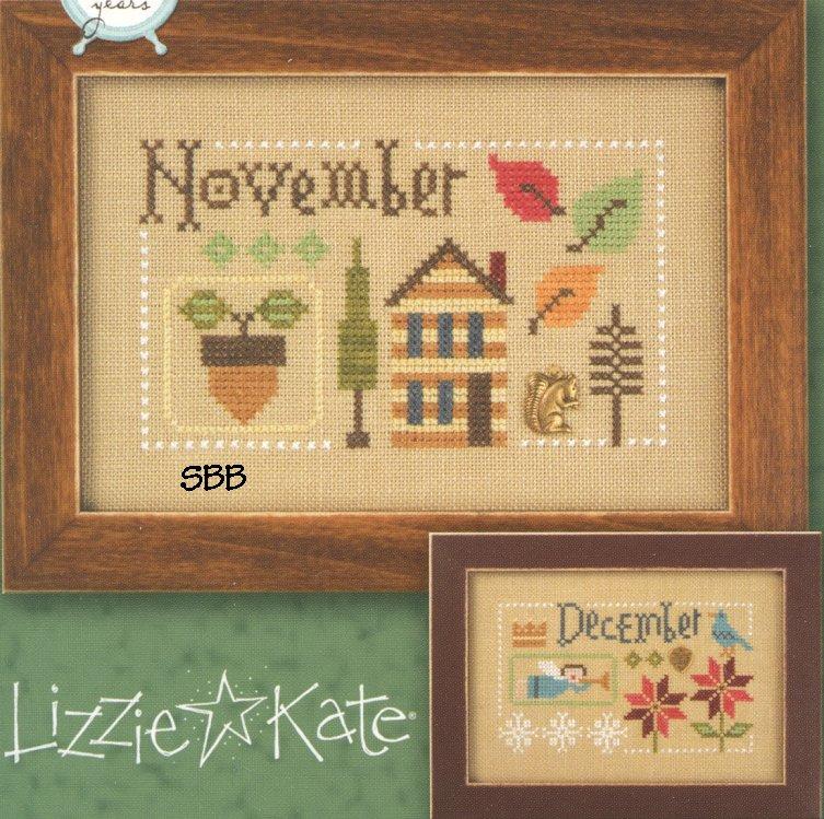 Lizzie*Kate F163 Year Book Double Flip ~ November & December