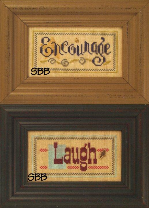 Lizzie*Kate Flip-ItF74 Encourage/Laugh Double Flip