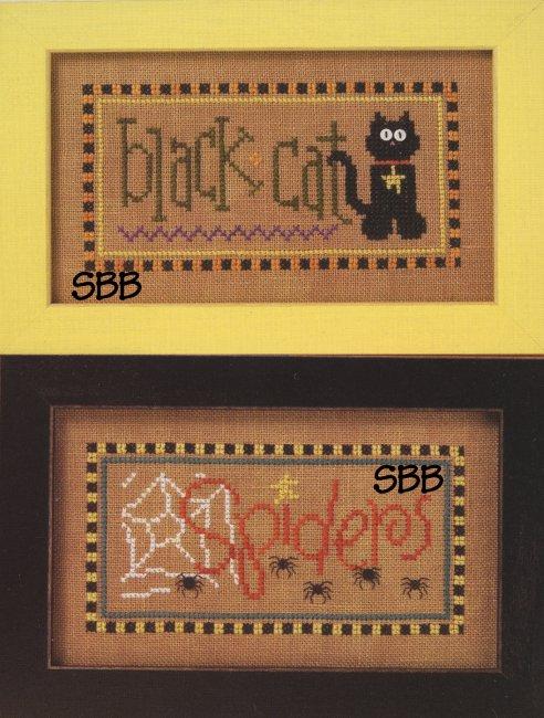 Lizzie*Kate Flip-ItF83 Black Cat/Spiders Halloween Double Flip