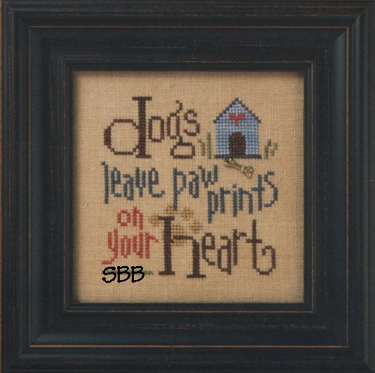 Lizzie*Kate Quick It Q003 Dogs Leave Paw Prints