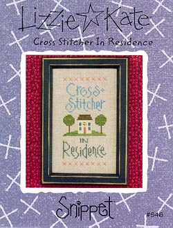 Lizzie*Kate Snippet 46 Cross Stitcher in Residence