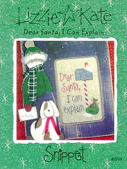 Lizzie*Kate Snippet 19 Dear Santa, I Can Explain