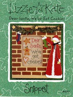 Lizzie*Kate Snippet 50  Dear Santa, We've Got Cookies