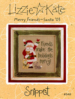 Lizzie*Kate Snippet 49 Merry Friends - Santa 2003