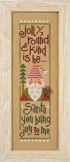 Lizzie*Kate Snippets S115 Jolly Round & Kind ~ Santa '14