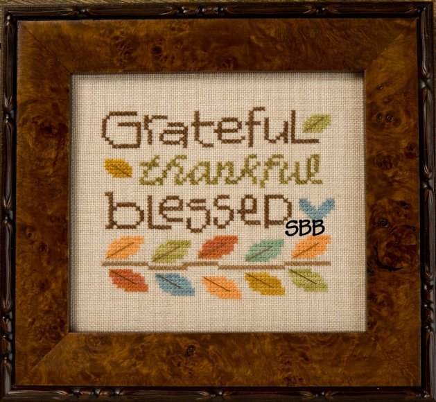 Lizzie*Kate Snippets S124 Grateful Thankful Blessed