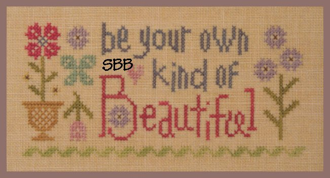 Lizzie*Kate Snippets S126 Be Your Own Kind Of Beautiful