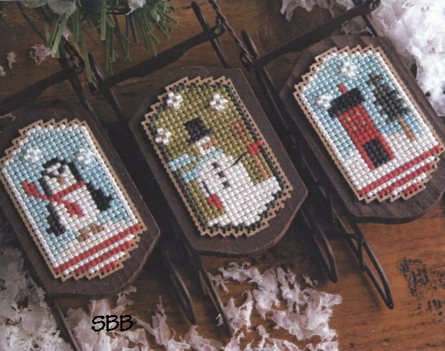 Lizzie*Kate Snippets S129 Snowy Sleds
