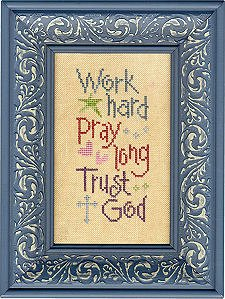 Lizzie*Kate Snippets S69 Work Pray Trust