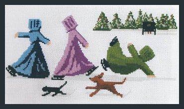 Lynn's Prints Skating Sisters