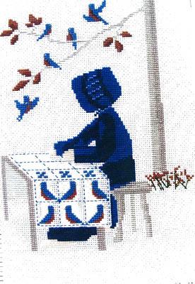 Lynn's Prints The Bluebird Quilt