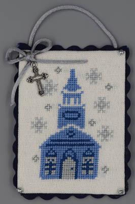 Misty Hill Studio Blue & Silver Christmas ~ Church