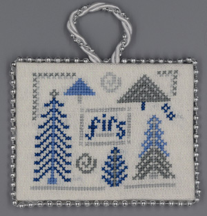 Misty Hill Studio Blue & Silver Christmas ~ Firs