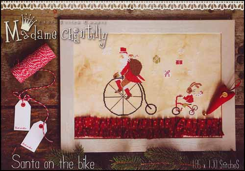 Madame Chantilly Santa On The Bike