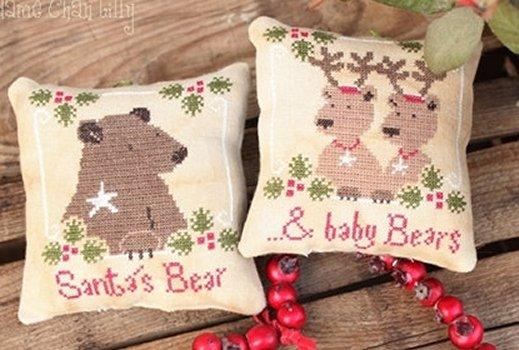 Madame Chantilly Santa's Bears & Baby Bears