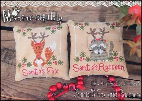 Madame Chantilly Santa's Fox & Racoon