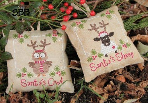 Madame Chantilly Santa's Owl & Sheep