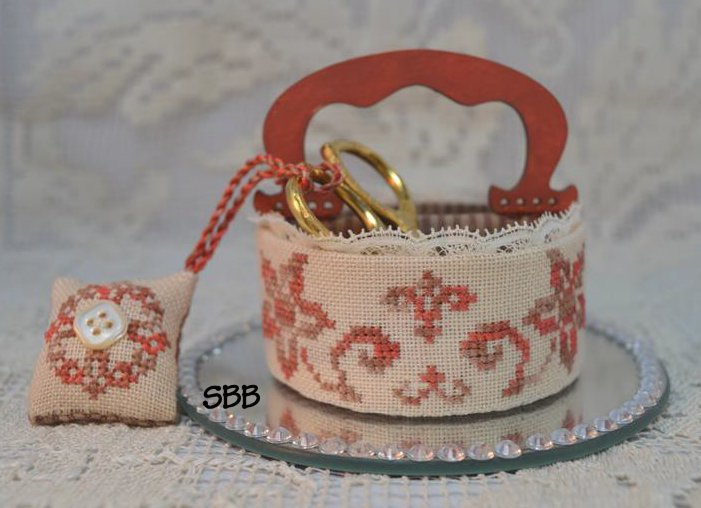 Mani di Donna A Stitcher's Basket With Hand Made Wooden Handle