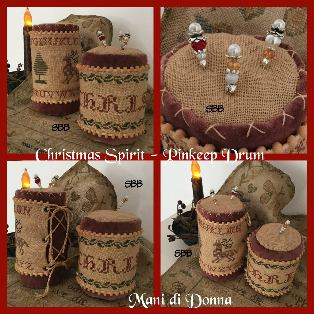 Mani di Donna Christmas Spirit Drum Pinkeep