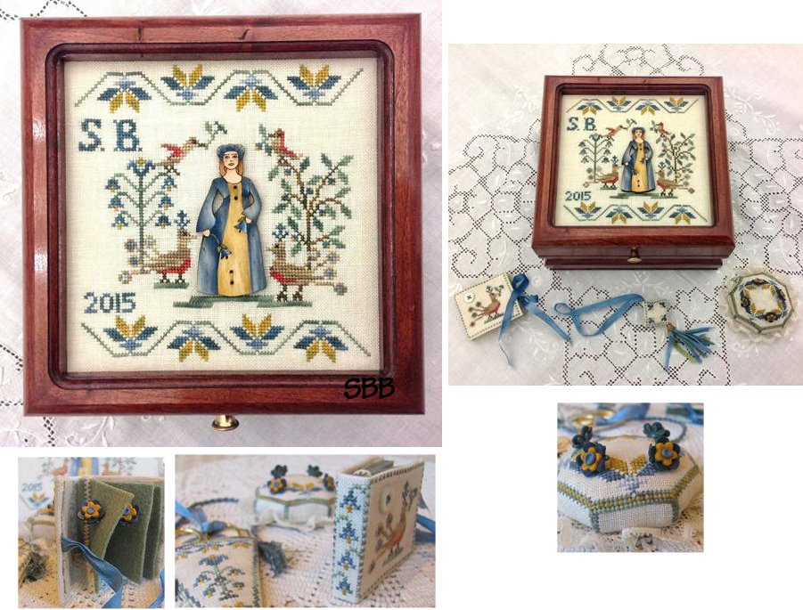 Mani di Donna Lady Simona Sewing Box With Handpainted Wooden Button