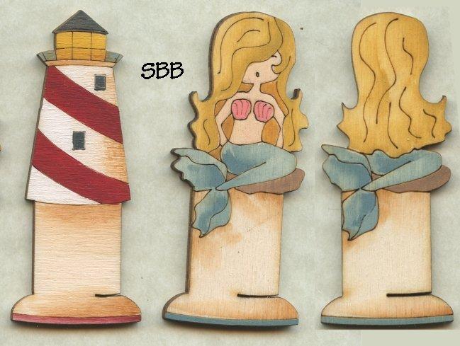 Mani Di Donna Limited Edition Mermaid's Song Sewing Box ~ Bobbin Set