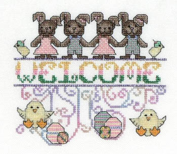 MarNic Designs Easter Welcome Funny Bunnies