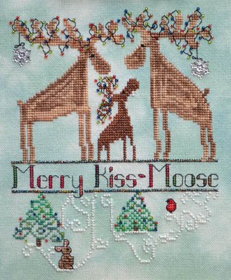 MarNic Designs Merry Kiss-Moose