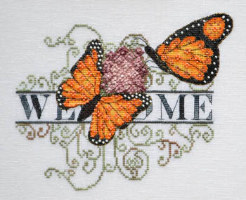 MarNic Designs Monarch Butterfly Welcome
