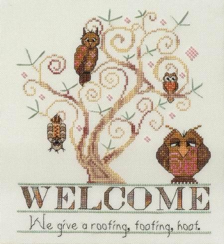 MarNic Designs Owl Welcome