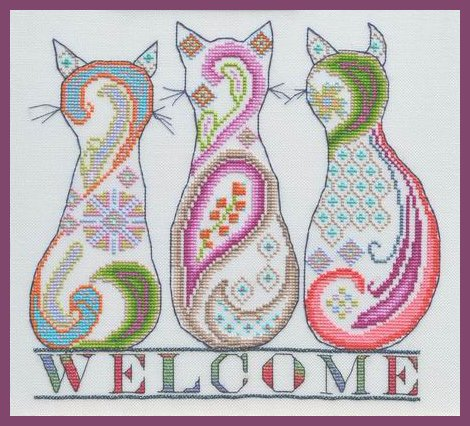 MarNic Designs Paisley Cat Welcome